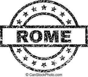 Grunge Textured ROME Stamp Seal