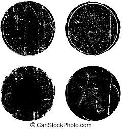 Grunge Textured Round Seal Stamps