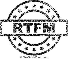 Grunge Textured RTFM Stamp Seal