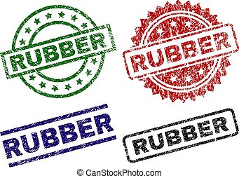 Grunge Textured RUBBER Seal Stamps