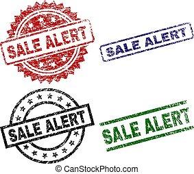 Grunge Textured SALE ALERT Stamp Seals