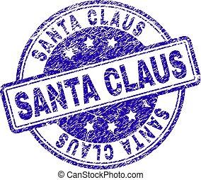 Grunge Textured SANTA CLAUS Stamp Seal