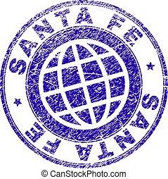 Grunge Textured SANTA FE Stamp Seal