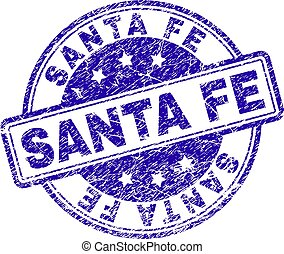 Grunge Textured SANTA FE Stamp Seal