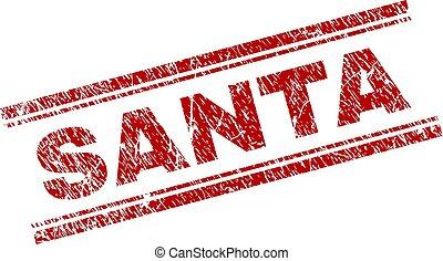 Grunge Textured SANTA Stamp Seal