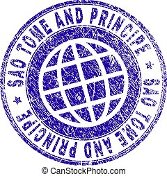 Grunge Textured SAO TOME AND PRINCIPE Stamp Seal - SAO TOME...