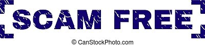 Grunge Textured SCAM FREE Stamp Seal Between Corners