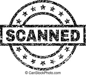 Grunge Textured SCANNED Stamp Seal