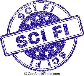 Grunge Textured SCI FI Stamp Seal