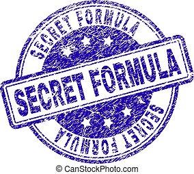 Grunge Textured SECRET FORMULA Stamp Seal