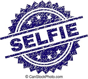 Grunge Textured SELFIE Stamp Seal