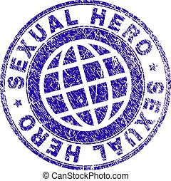 Grunge Textured SEXUAL HERO Stamp Seal