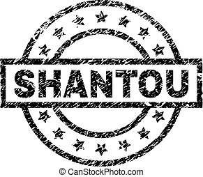 Grunge Textured SHANTOU Stamp Seal