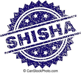 Grunge Textured SHISHA Stamp Seal