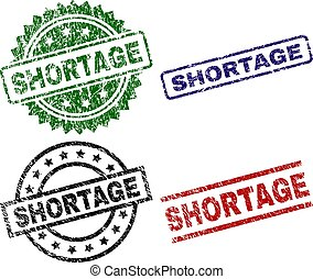 Grunge Textured SHORTAGE Stamp Seals