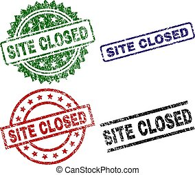 Grunge Textured SITE CLOSED Seal Stamps