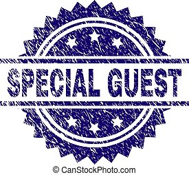 Grunge Textured SPECIAL GUEST Stamp Seal