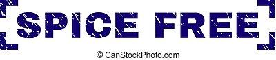 Grunge Textured SPICE FREE Stamp Seal Between Corners
