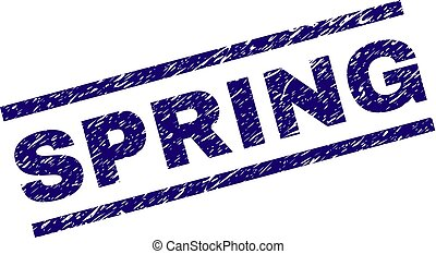 Grunge Textured SPRING Stamp Seal - SPRING seal print with...