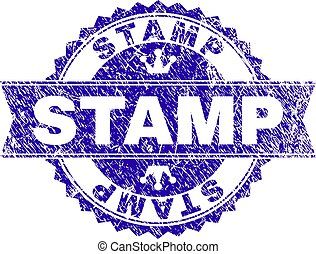 Grunge Textured STAMP Seal with Ribbon