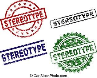 Grunge Textured STEREOTYPE Stamp Seals