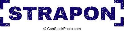 Grunge Textured STRAPON Stamp Seal Inside Corners - STRAPON...