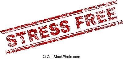 Grunge Textured STRESS FREE Stamp Seal