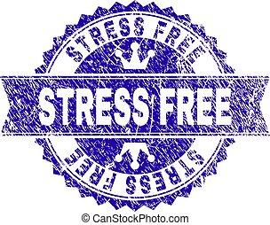 Grunge Textured STRESS FREE Stamp Seal with Ribbon