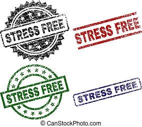 Grunge Textured STRESS FREE Stamp Seals