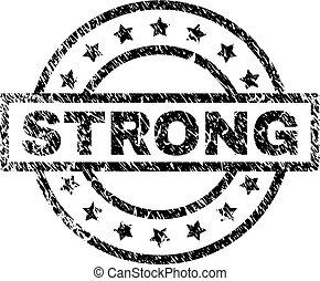 Grunge Textured STRONG Stamp Seal