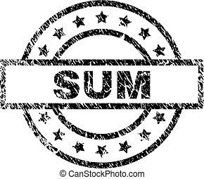 Grunge Textured SUM Stamp Seal