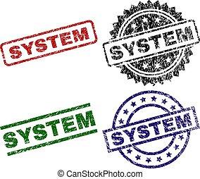 Grunge Textured SYSTEM Stamp Seals