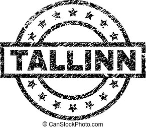 grunge, textured, tallinn, tłoczyć, znak