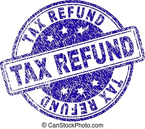 Grunge Textured TAX REFUND Stamp Seal