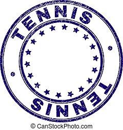 Grunge Textured TENNIS Round Stamp Seal