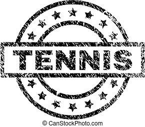 Grunge Textured TENNIS Stamp Seal