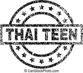 Grunge Textured THAI TEEN Stamp Seal
