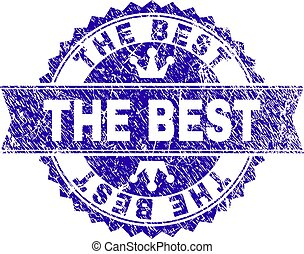 Grunge Textured THE BEST Stamp Seal with Ribbon