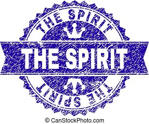 Grunge Textured THE SPIRIT Stamp Seal with Ribbon