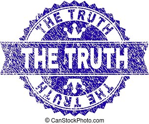 Grunge Textured THE TRUTH Stamp Seal with Ribbon