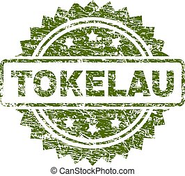 Grunge Textured TOKELAU Stamp Seal