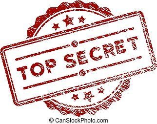 Grunge Textured Top Secret Stamp Seal