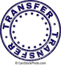 Grunge Textured TRANSFER Round Stamp Seal - TRANSFER stamp...