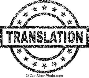 Grunge Textured TRANSLATION Stamp Seal - TRANSLATION stamp...