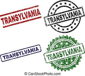 Grunge Textured TRANSYLVANIA Stamp Seals