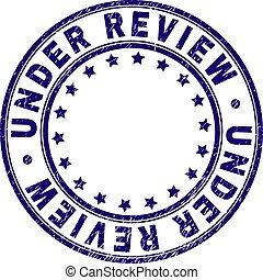Grunge Textured UNDER REVIEW Round Stamp Seal