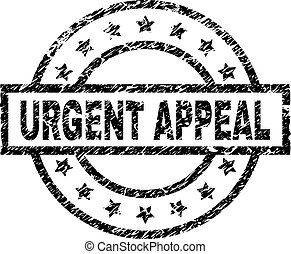 Grunge Textured URGENT APPEAL Stamp Seal