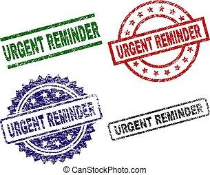 Grunge Textured URGENT REMINDER Stamp Seals