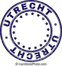 Grunge Textured UTRECHT Round Stamp Seal