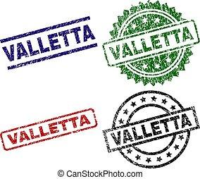 Grunge Textured VALLETTA Seal Stamps